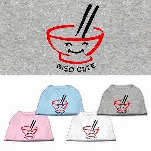 Miso Cute Screen Print Pet Shirt | The Pet Boutique