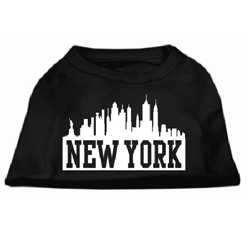 New York Skyline Screen Print Pet Shirt - Black | The Pet Boutique