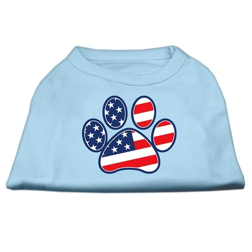 Patriotic Paw Screen Print Dog Shirt - Baby Blue | The Pet Boutique