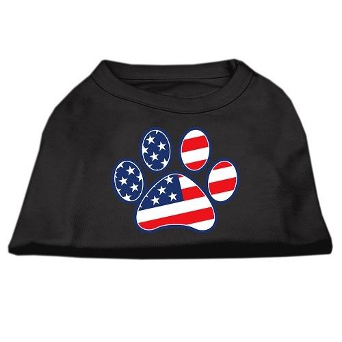 Patriotic Paw Screen Print Dog Shirt - Black   The Pet Boutique