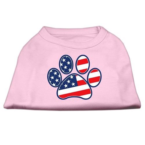 Patriotic Paw Screen Print Dog Shirt - Light Pink | The Pet Boutique