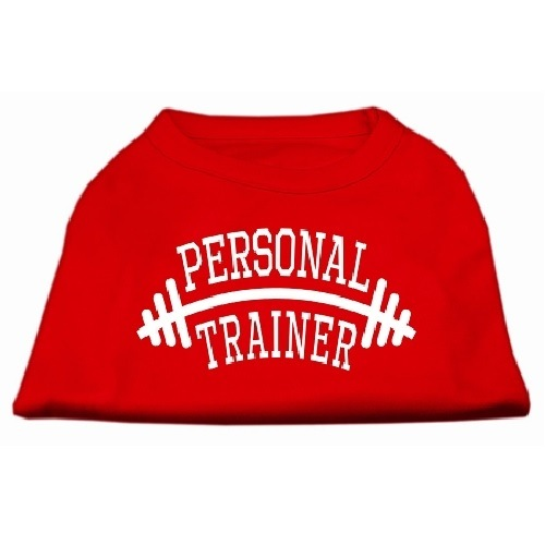 Personal Trainer Screen Print Pet Shirt - Red   The Pet Boutique