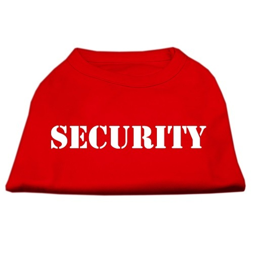 Security Screen Print Pet Shirt - Red | The Pet Boutique