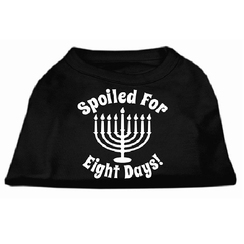 Spoiled for 8 Days Screen Print Dog Shirt - Black   The Pet Boutique