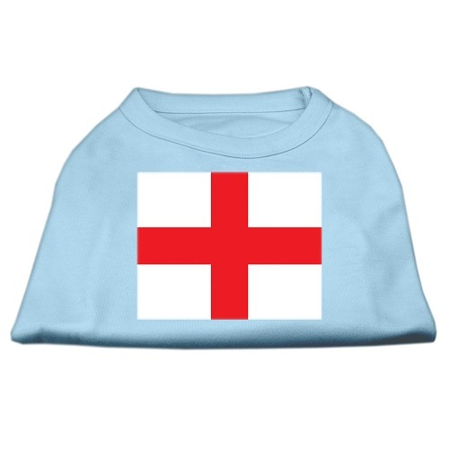 St. George's Cross (English Flag) Screen Print Pet Shirt - Baby Blue | The Pet Boutique