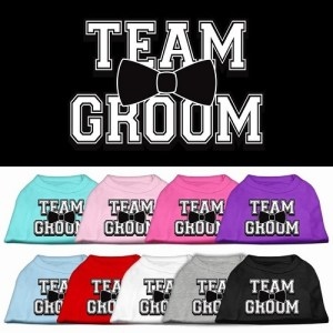 Team Groom Screen Print Pet Shirt | The Pet Boutique