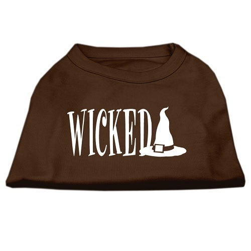 Wicked Screen Print Pet Shirt - Brown | The Pet Boutique