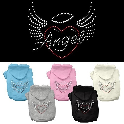 Angel Heart Rhinestone Pet Hoodie | The Pet Boutique