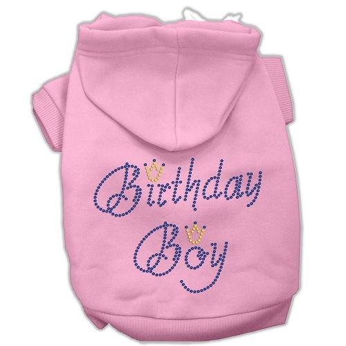 Birthday Boy Rhinestone Pet Hoodie - Pink | The Pet Boutique