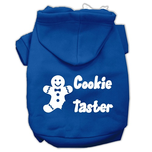 Cookie Taster Screen Print Pet Hoodie - Blue | The Pet Boutique