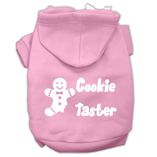 Cookie Taster Screen Print Pet Hoodie - Light Pink | The Pet Boutique