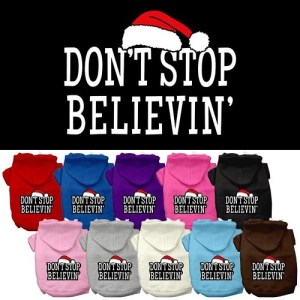 Don't Stop Believin' Screen Print Pet Hoodie | The Pet Boutique