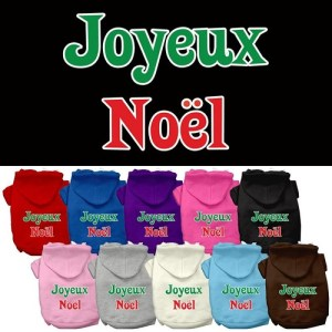 Joyeux Noel Screen Print Pet Hoodie | The Pet Boutique