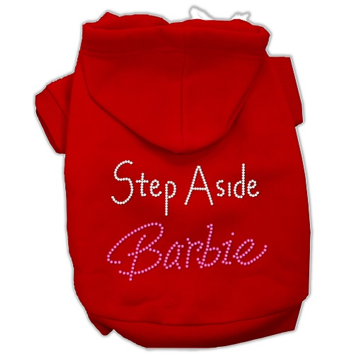 Step Aside Barbie Rhinestone Pet Hoodie - Red   The Pet Boutique