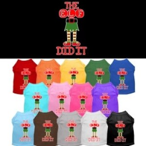 The Elf Did It Screen Print Dog Shirt | The Pet Boutique