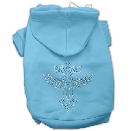 Warrior's Cross Studded Pet Hoodie - Baby Blue | The Pet Boutique
