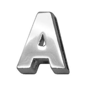18mm Chrome Letter Sliding Collar Charm - A | The Pet Boutique