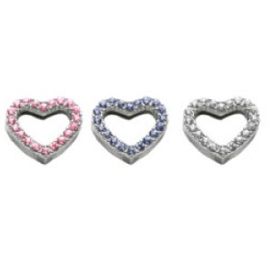 "3/4"" Heart Slider Collar Charm 