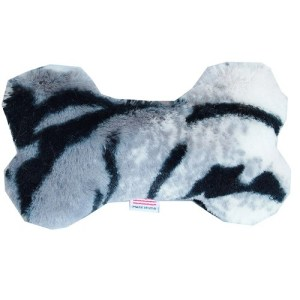 6-Inch Plush Bone Dog Toy - Siberian Tiger | The Pet Boutique