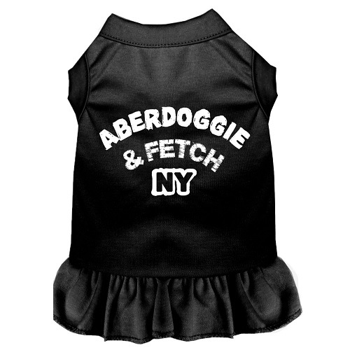 Aberdoggie NY Screen Print Pet Dress - Black | The Pet Boutique