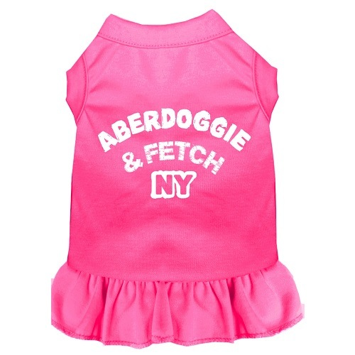 Aberdoggie NY Screen Print Pet Dress - Bright Pink | The Pet Boutique