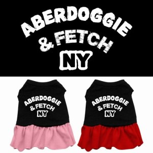 Aberdoggie NY Screen Print Pet Dress - Color Combo | The Pet Boutique