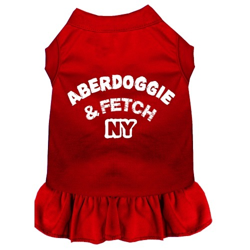 Aberdoggie NY Screen Print Pet Dress - Red | The Pet Boutique