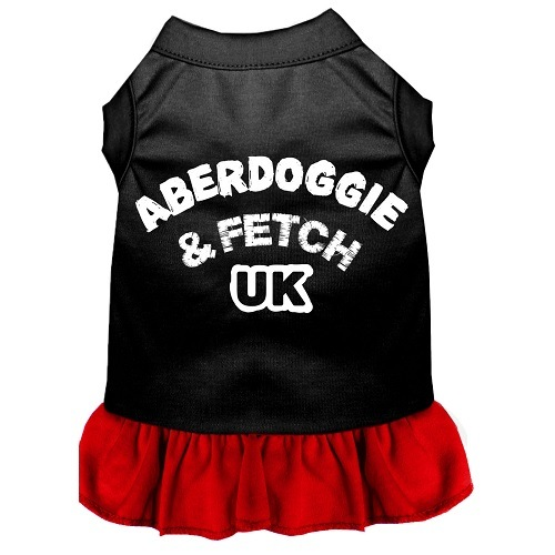 Aberdoggie UK Screen Print Pet Dress - Color Combo - Black with Red | The Pet Boutique