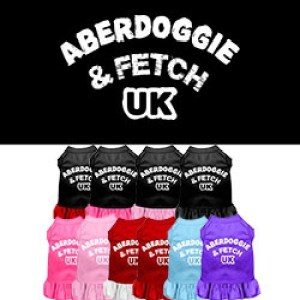 Aberdoggie UK Screen Print Screen Print Pet Dress| The Pet Boutique