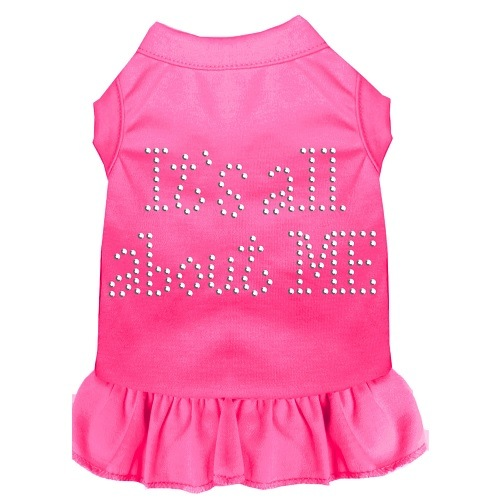 All About Me Rhinestone Pet Dress - Bright Pink | The Pet Boutique