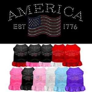 Classic America Rhinestone Pet Dress | The Pet Boutique