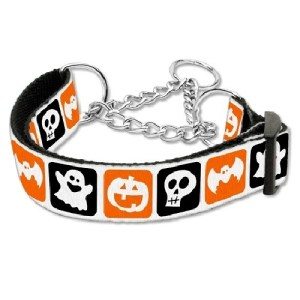 Classic Halloween Nylon Ribbon Dog Collar - Martingale | The Pet Boutique