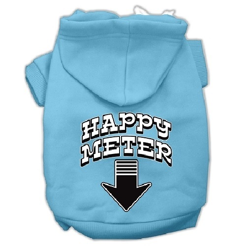 Happy Meter Screen Print Dog Hoodie - Baby Blue | The Pet Boutique