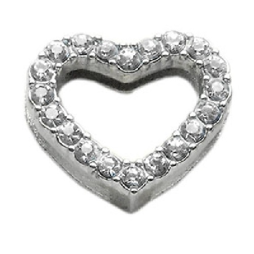 Heart Slider Collar Charm - Clear | The Pet Boutique