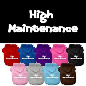 High Maintenance Screen Print Pet Hoodie | The Pet Boutique