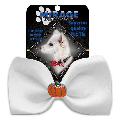 Pumpkin Widget Pet Bow Tie - White | The Pet Boutique