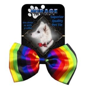 Rainbow Dog Bow Tie   The Pet Boutique