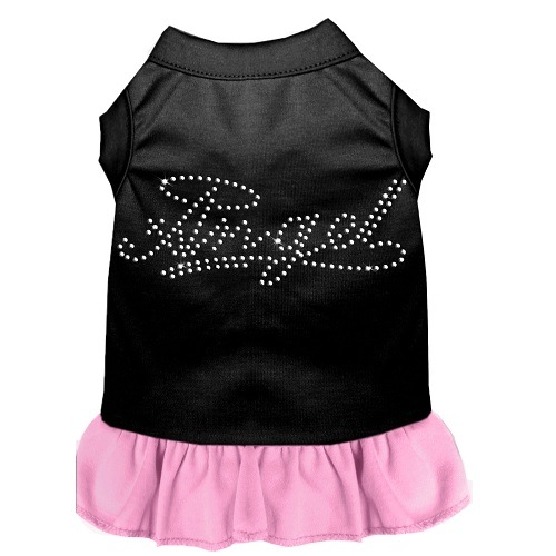 Rhinestone Angel Pet Dress - Color Combo - Black with Light Pink | The Pet Boutique