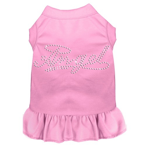Rhinestone Angel Pet Dress - Light Pink | The Pet Boutique