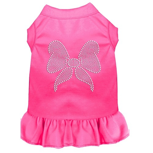 Rhinestone Bow Pet Dress - Bright Pink | The Pet Boutique