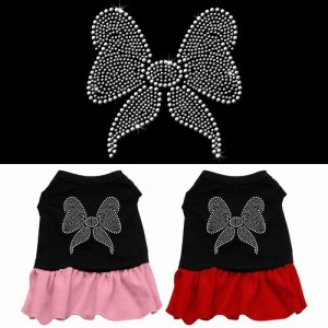 Rhinestone Bow Pet Dress - Color Combo | The Pet Boutique