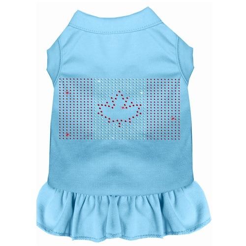 Rhinestone Canadian Flag Pet Dress - Baby Blue | The Pet Boutique