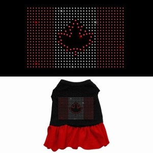 Rhinestone Canadian Flag Pet Dress - Color Combo | The Pet Boutique
