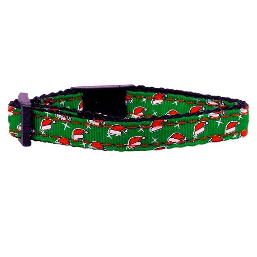 Santa Hat Nylon and Ribbon Cat Safety Collar Cat Safety | The Pet Boutique