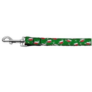 Santa Hat Nylon and Ribbon Pet Leash | The Pet Boutique