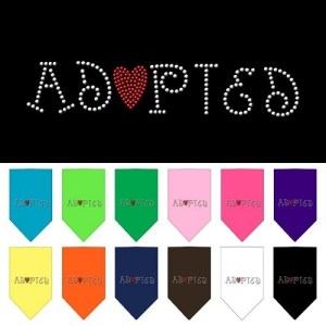 Adopted Rhinestone Pet Bandana | The Pet Boutique