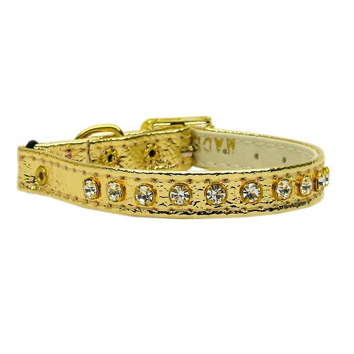 Crystal Cat Safety Collar with Band - Gold | The Pet Boutique