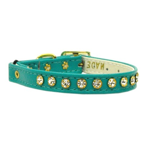 Crystal Cat Safety Collar with Band - Turquoise | The Pet Boutique