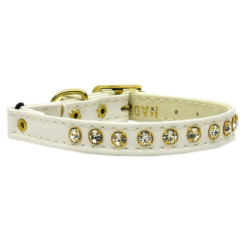 Crystal Cat Safety Collar with Band - White | The Pet Boutique