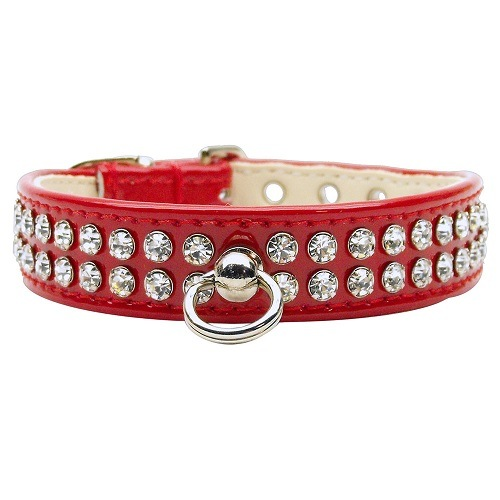 Patent Jewel #72 Dog Collar - Red | The Pet Boutique